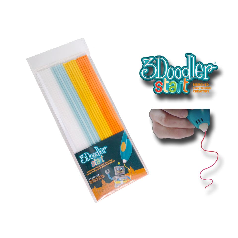 3Doodler start navulling - wit/mint/geel/oranje