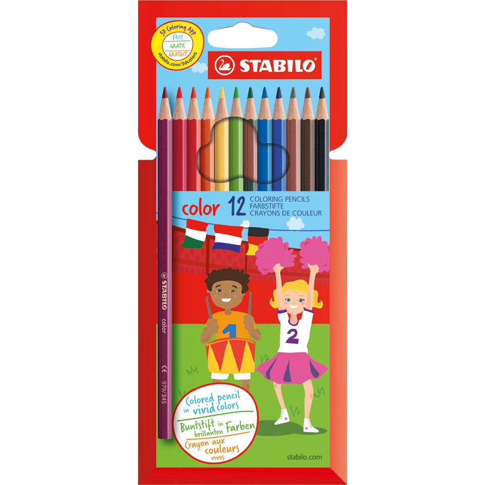 STABILO Color kleurpotloden - 12 stuks