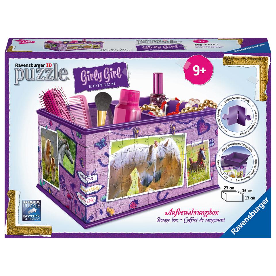 Ravensburger Girly Girl 3D-puzzel opbergdoos paarden - 216 stukjes