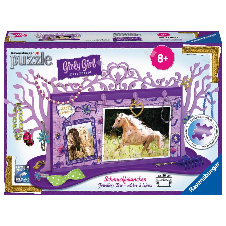 Ravensburger Girly Girl 3D-puzzel juwelenboom paarden - 108 stukjes