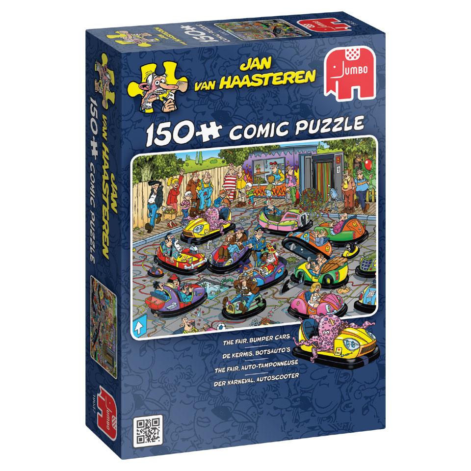 Jumbo Jan van Haasteren puzzel De kermis botsauto's - 150 stukjes