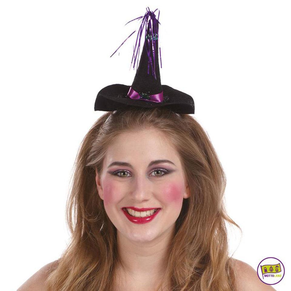 Heksenhoedje op haarband