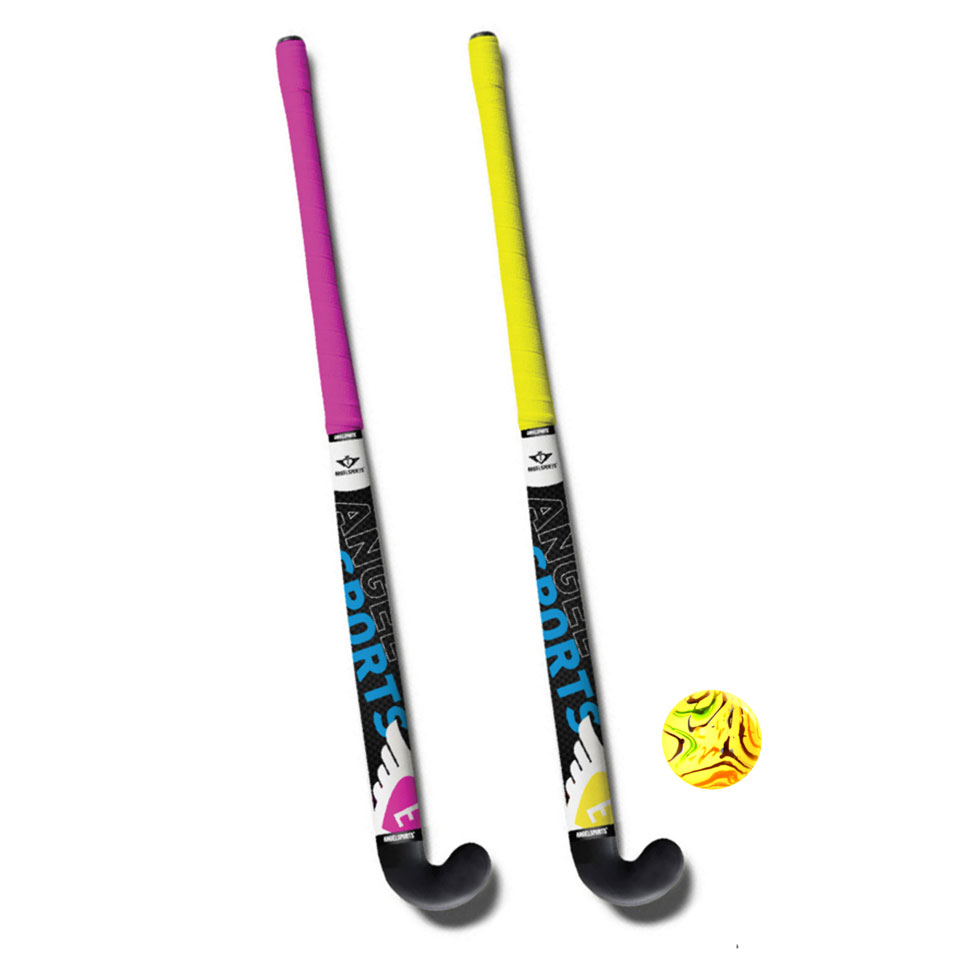 Angel Sports hockeyset - 33 inch - roze/geel