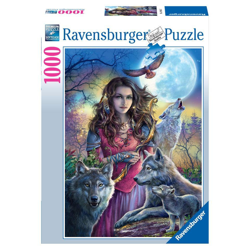 Ravensburger puzzel Beschermvrouw van de wolven - 1000 stukjes
