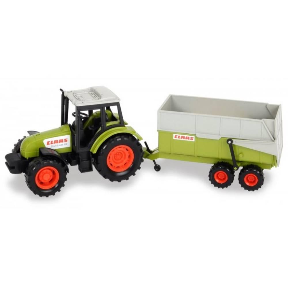 Dickie Toys Claas tractor met aanhangwagen