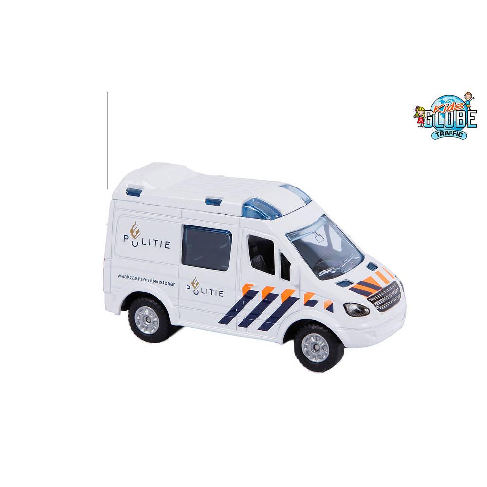 Kid's Globe pull back politieauto die-cast - 8 cm