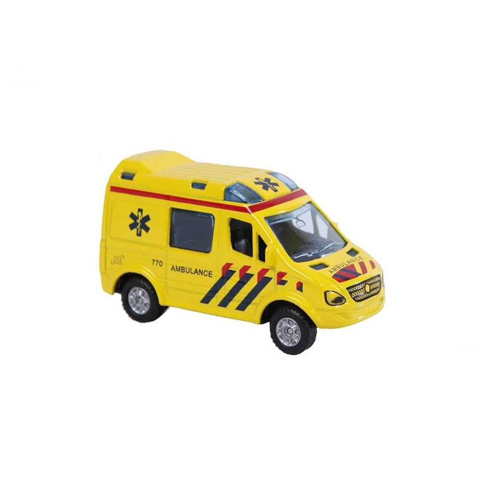 Kids Globe Traffic ambulance - 2-Play - 8 cm