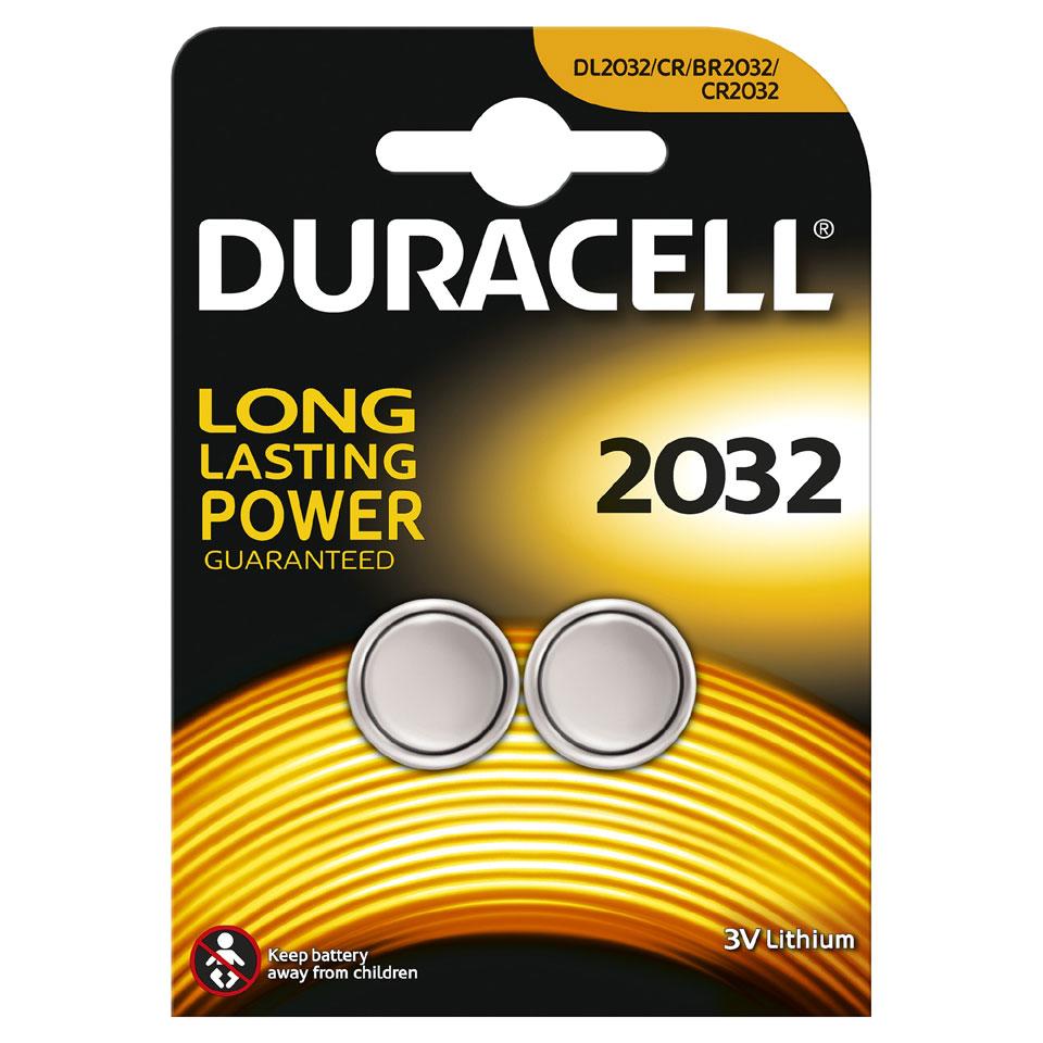 Duracell Specialty lithium knoopcelbatterij - CR2032 - 2 stuks