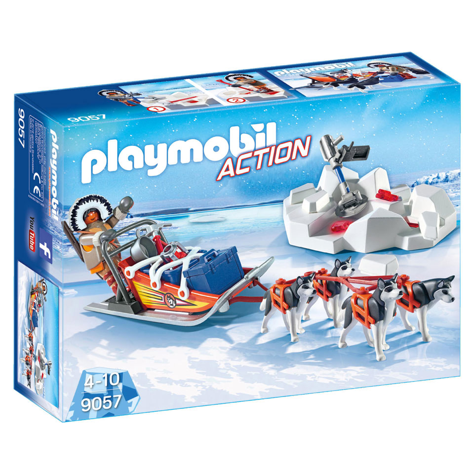 PLAYMOBIL Action poolreizigers met hondenslee 9057