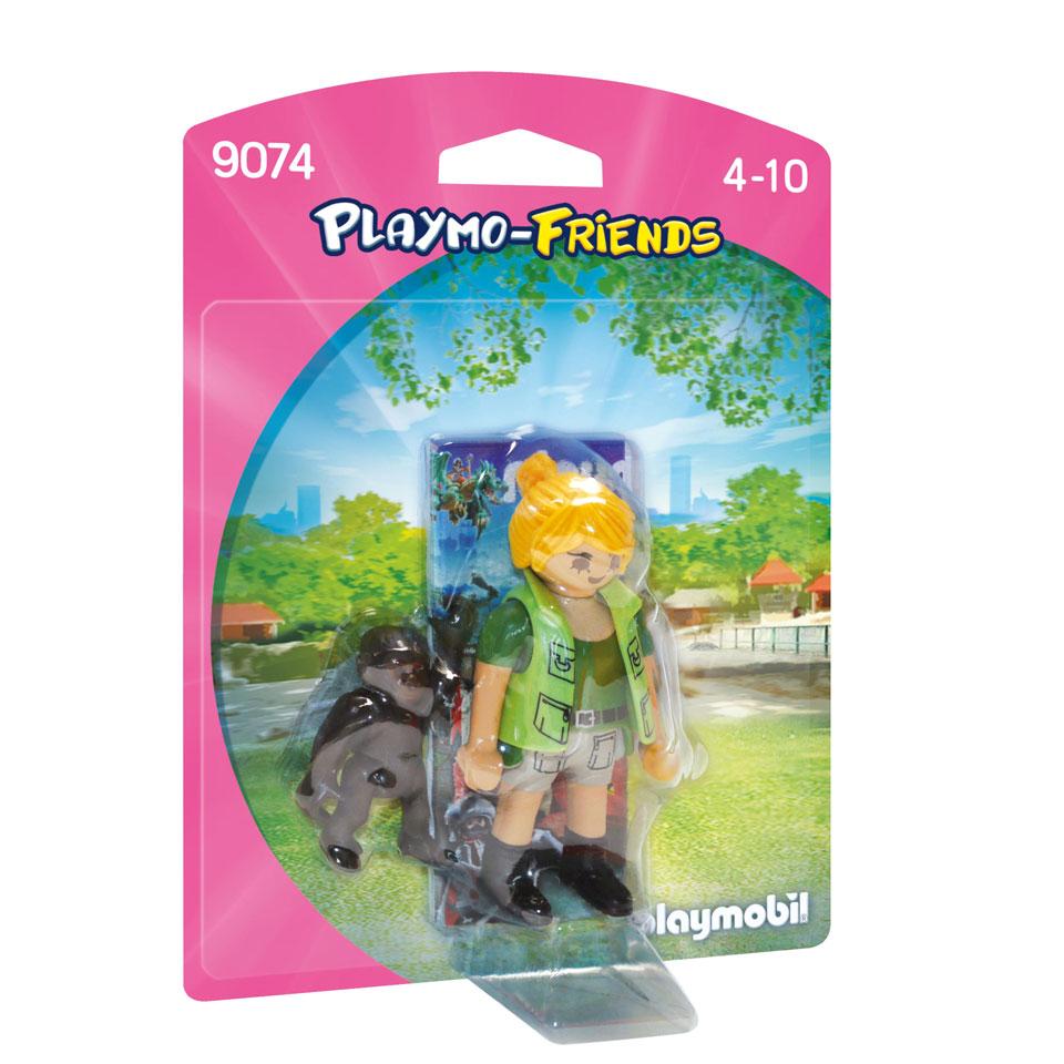 PLAYMOBIL Playmo-Friends dierenverzorger met baby gorilla 9074
