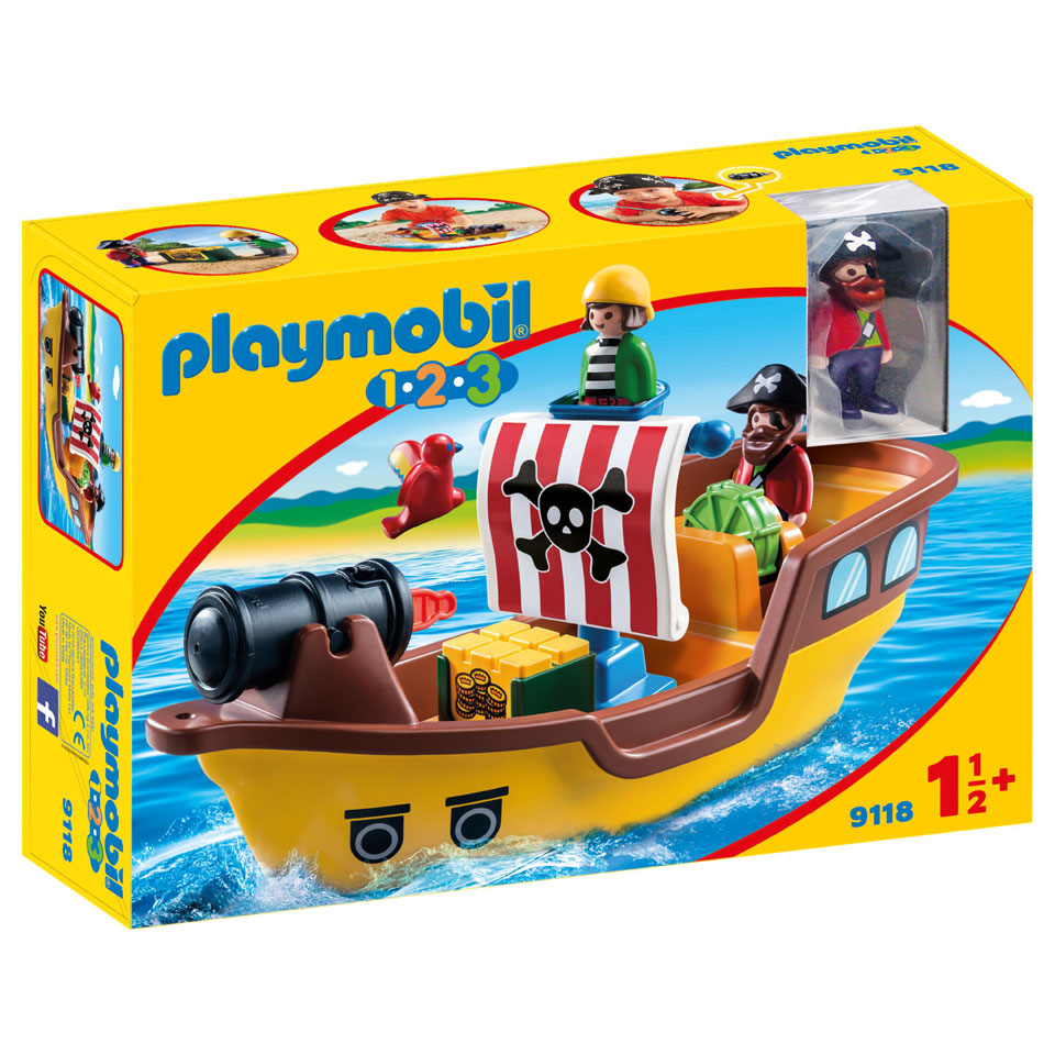 PLAYMOBIL 1.2.3 piratenschip 9118