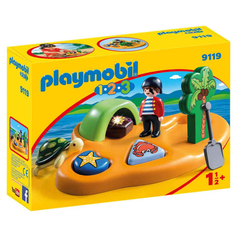 PLAYMOBIL 1.2.3 pirateneiland 9119