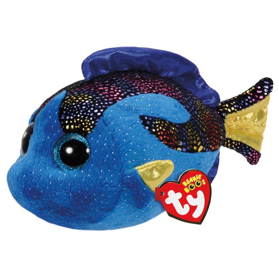 Ty Beanie Boo knuffel vis Aqua - 15 cm