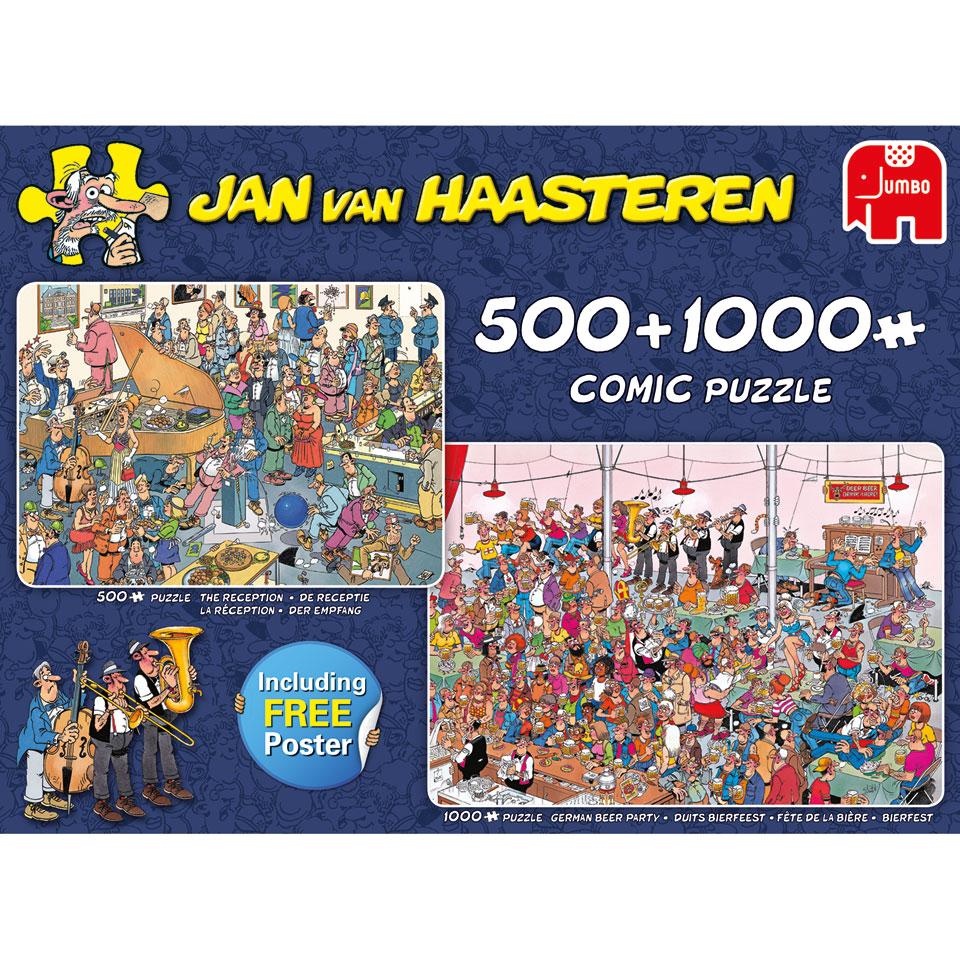 Jumbo Jan van Haasteren puzzel Feestje! - 500 + 1000 stukjes