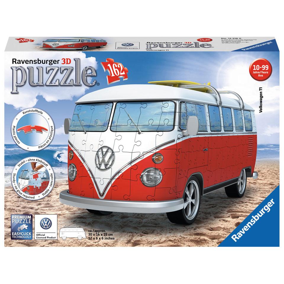 Ravensburger 3D-puzzel VW bus (T1 bully) - 162 stukjes