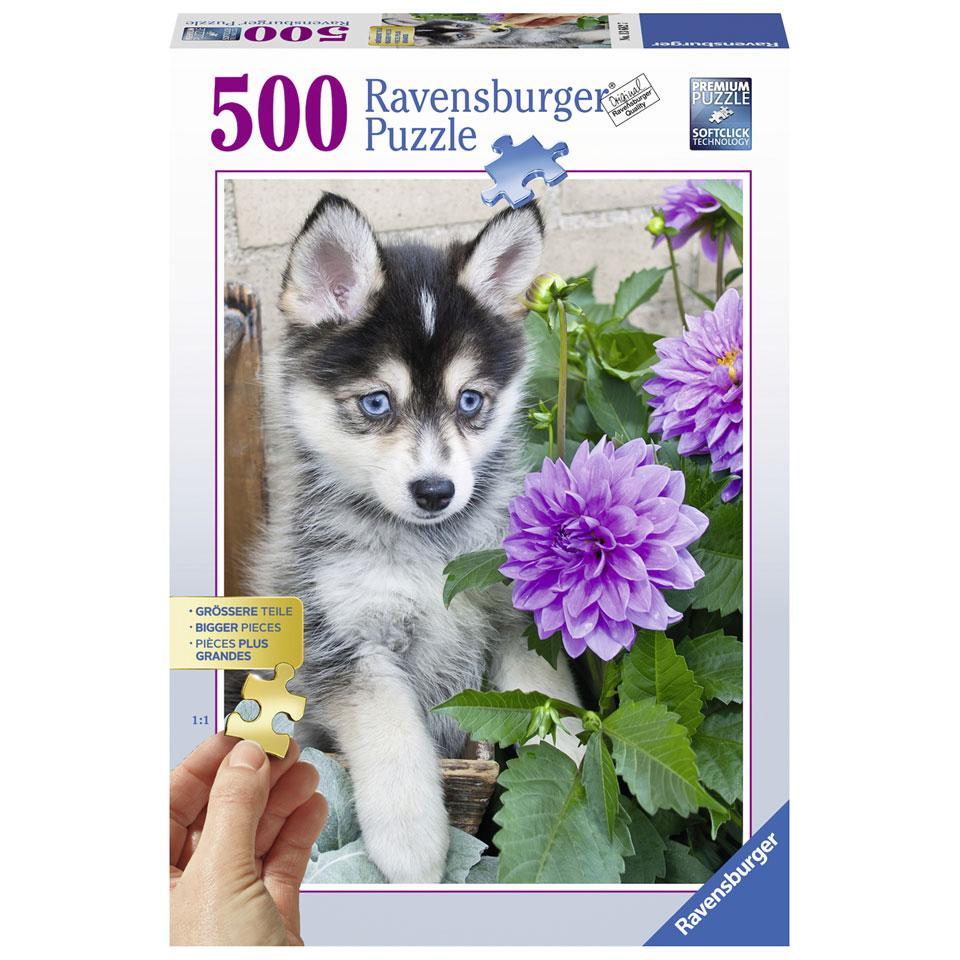 Ravensburger puzzel Schattige Husky - 500 stukjes