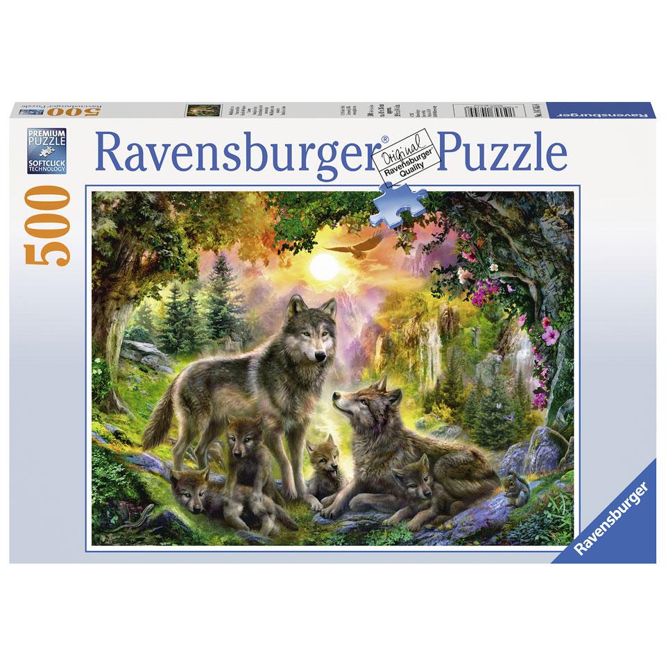 Ravensburger puzzel wolvenfamilie in de zonneschijn - 500 stukjes