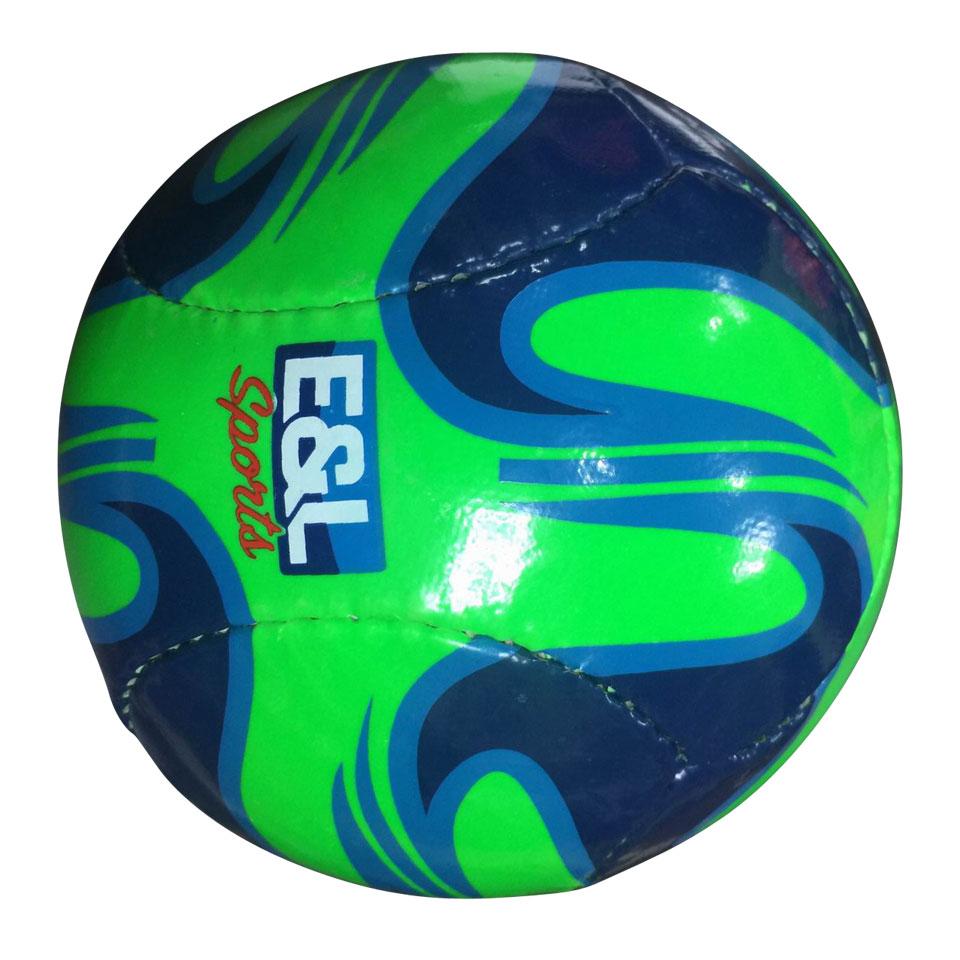 Mini bal kunstleder - blauw/groen