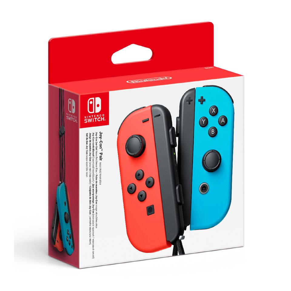 Joy Con controllers set van 2 - rood + blauw