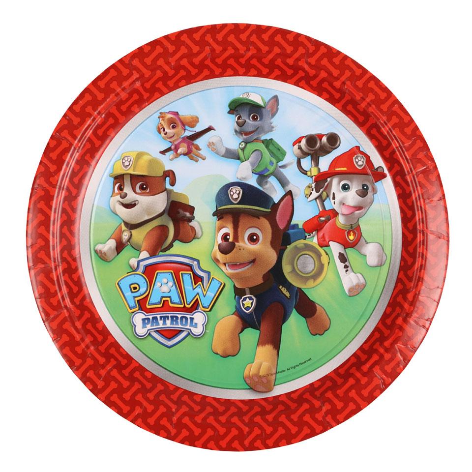 PAW Patrol borden - 8 stuks - 23 cm