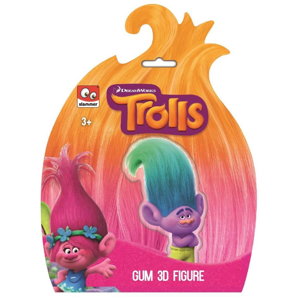 Trolls 3D gum figuur
