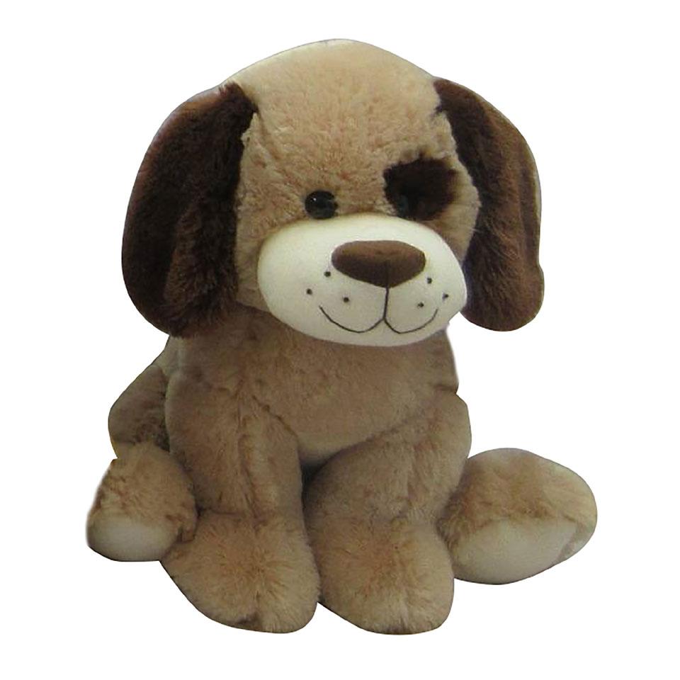 Pluchen zittende hond - 38 cm