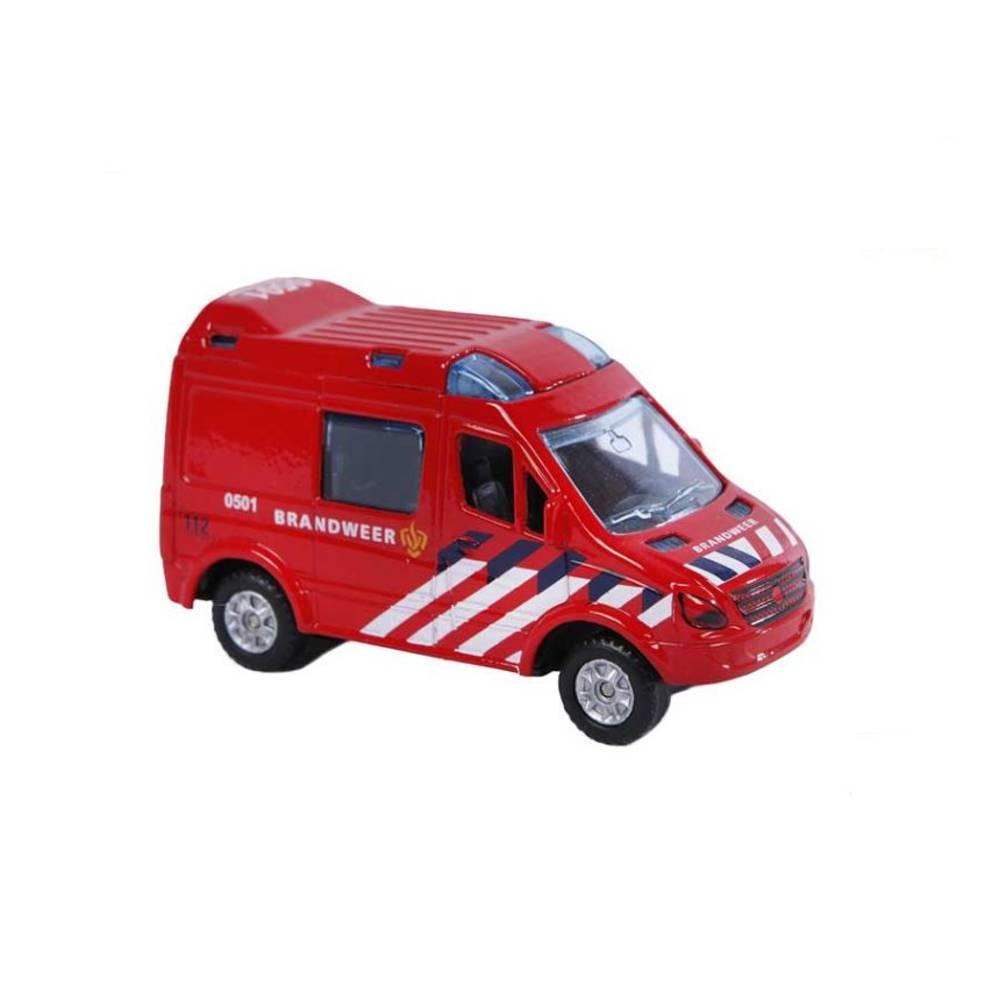 Kids Globe Traffic brandweerwagen - pullback