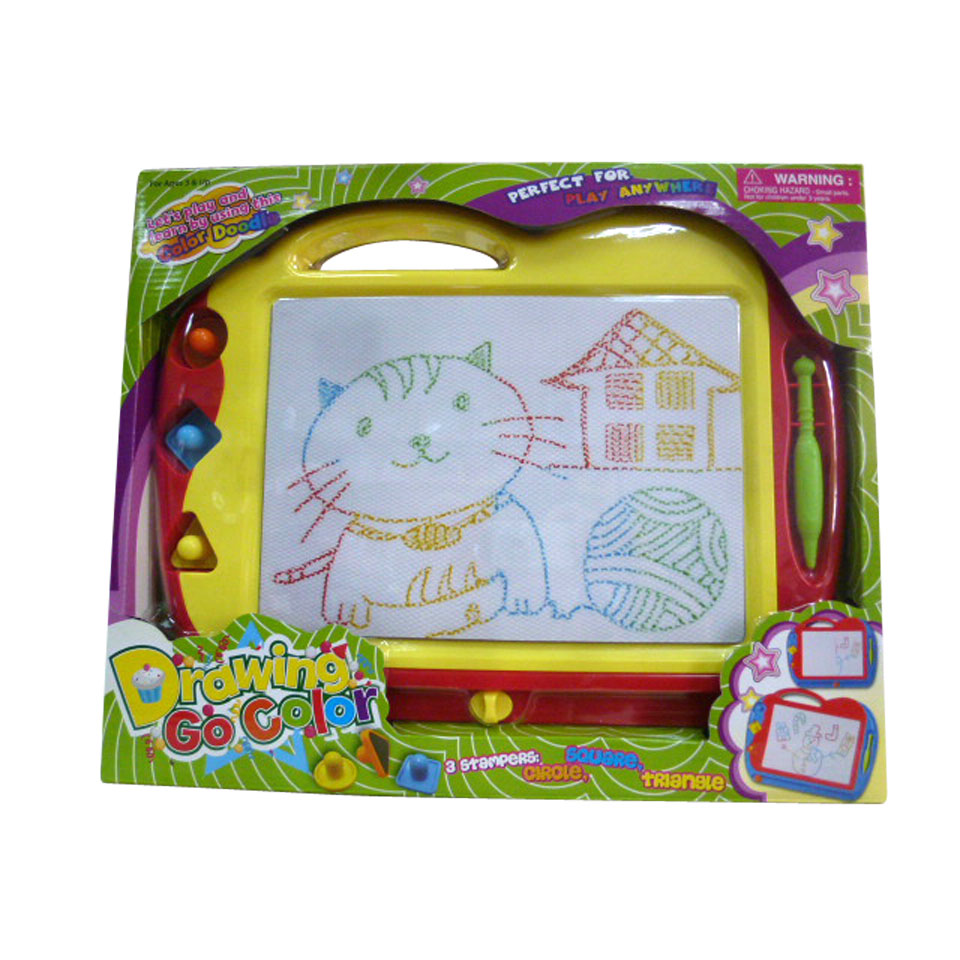 Magnetisch tekenbord + pen en stempels