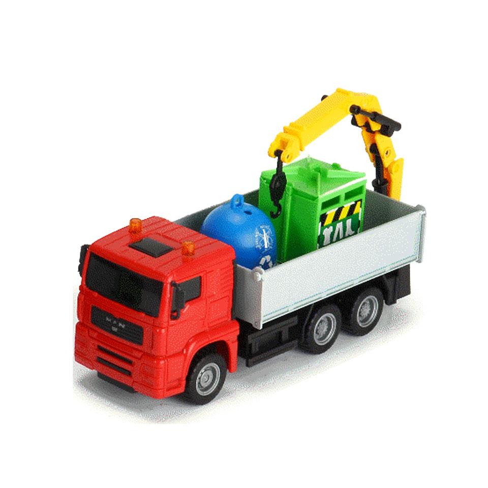 Dicky Toys Heavy City truck vuilniswagen