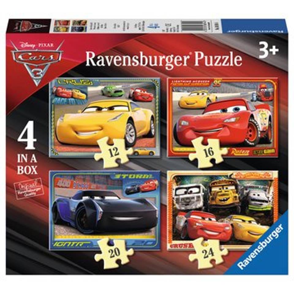Ravensburger puzzelset Disney Cars 3 Let's race! - 12 + 16 + 20 + 24 stukjes