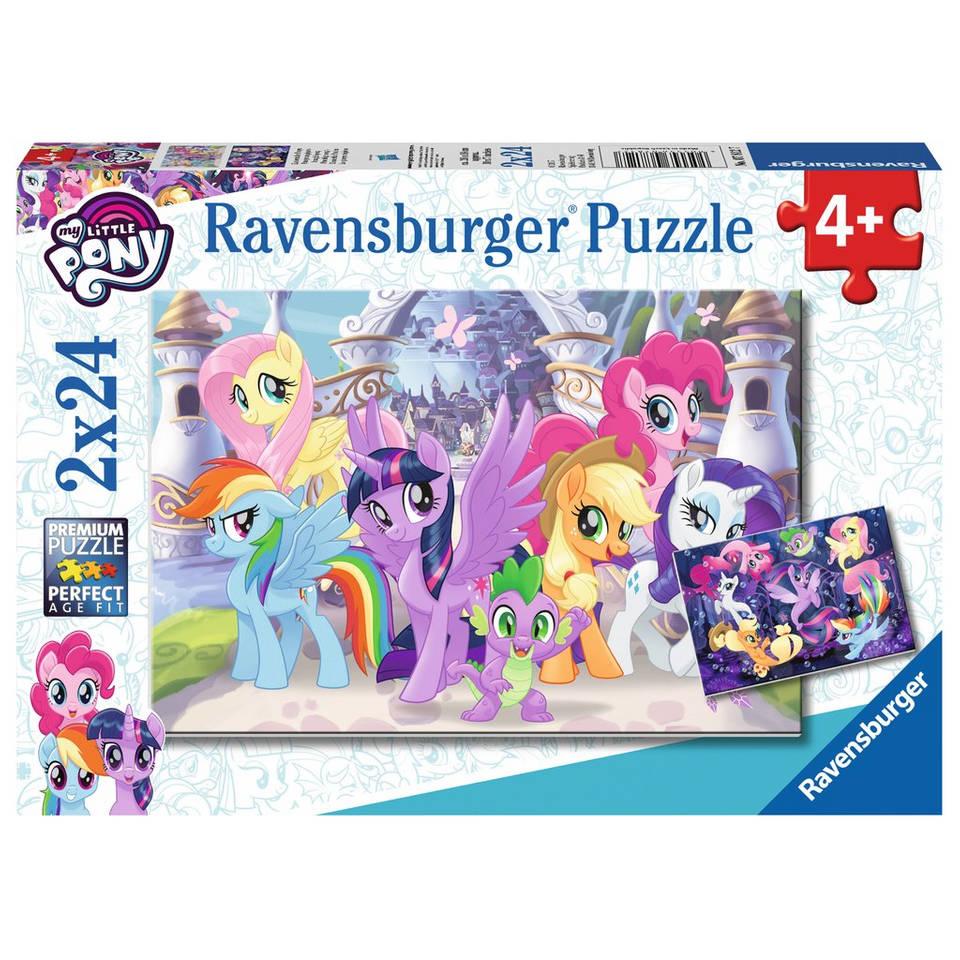 Ravensburger puzzelset My Little Pony prachtige pony's - 2 x 24 stukjes
