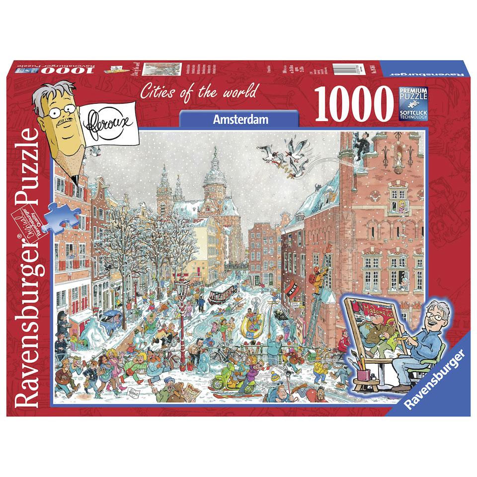 Ravensburger puzzel Fleroux Cities of the world: Amsterdam in winter - 1000 stukjes