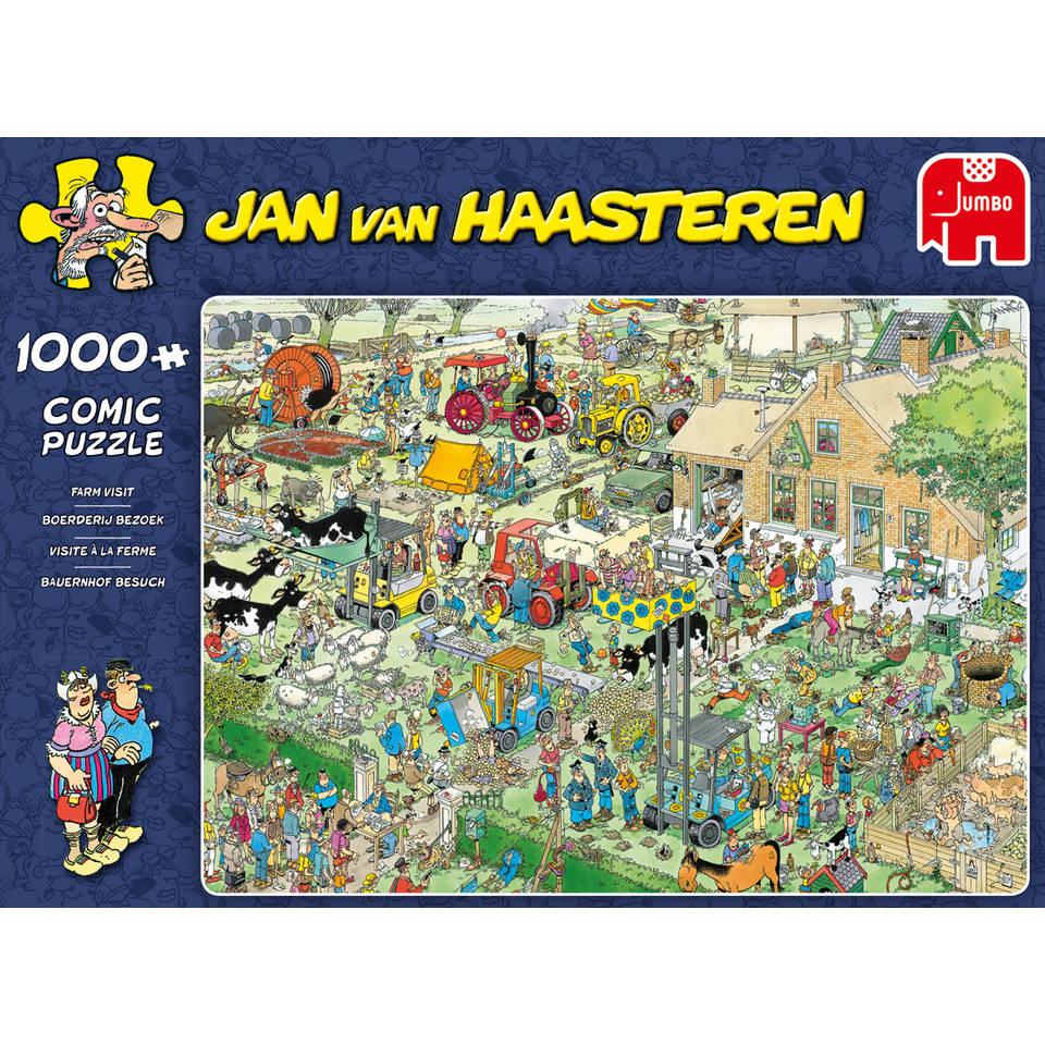 Jumbo Jan van Haasteren puzzel Boerderij bezoek - 1000 stukjes