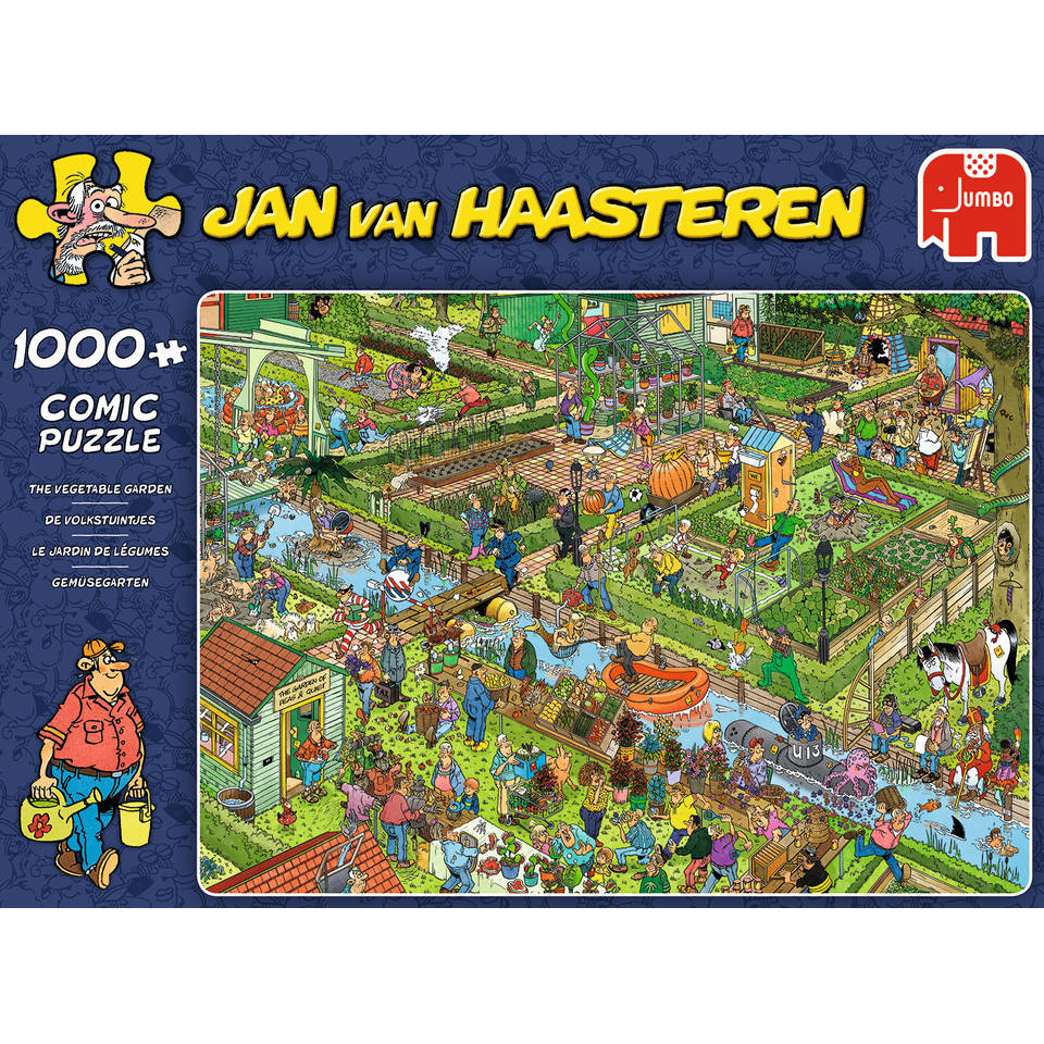Jumbo Jan van Haasteren puzzel Volkstuintjes - 1000 stukjes