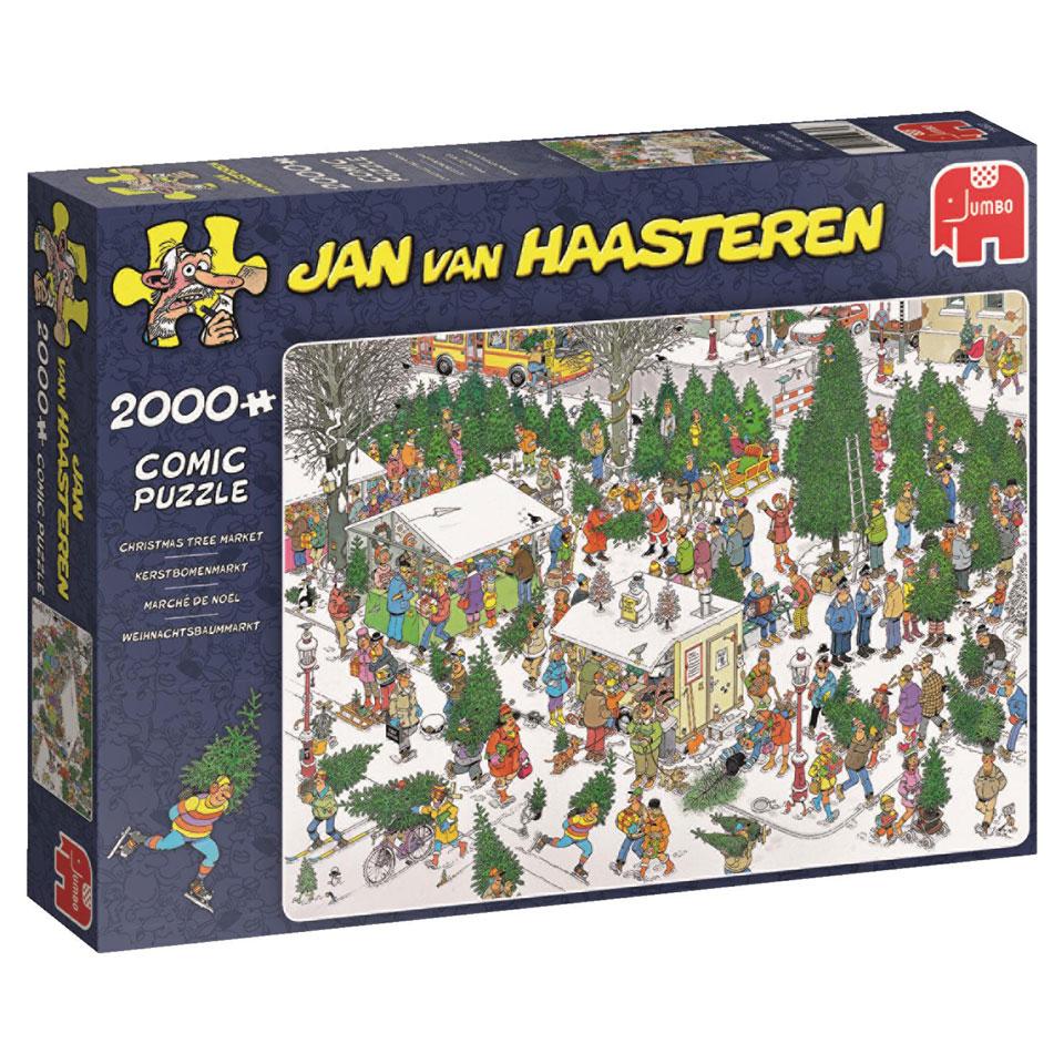 Jumbo Jan van Haasteren puzzel Kerstbomenmarkt - 2000 stukjes