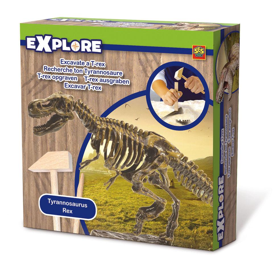 SES Explore skelet T-rex opgraven