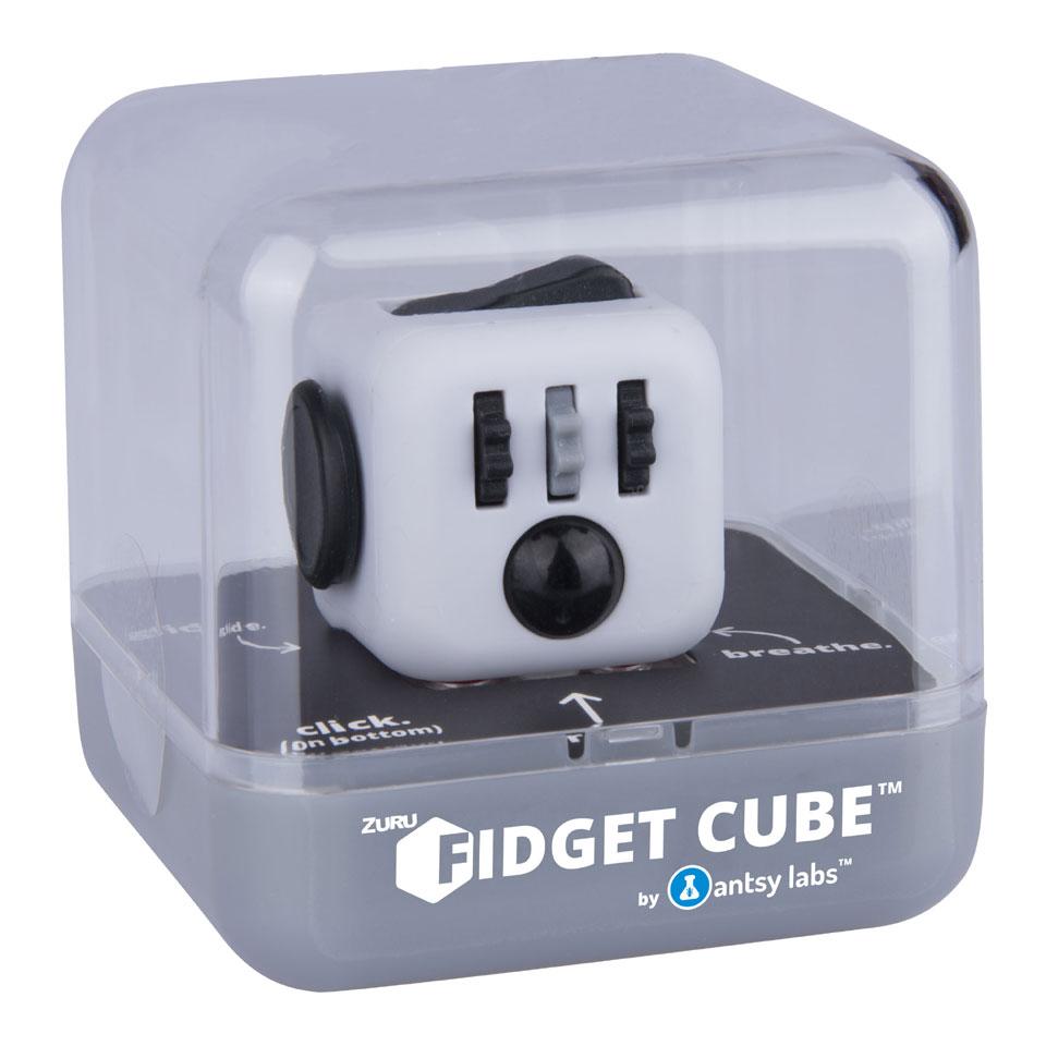 Fidget Cube - zwart/grijs/rood