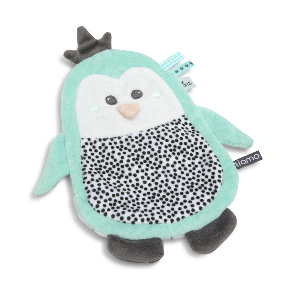 Tiamo Hello Little One knuffeldoekje pinguïn met knisperpapier