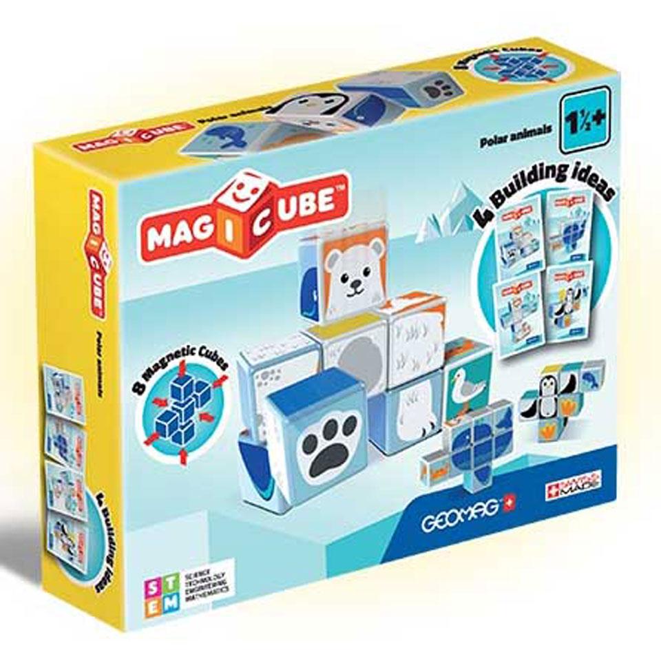 Geomag MagiCube polar dieren - 8 stukjes