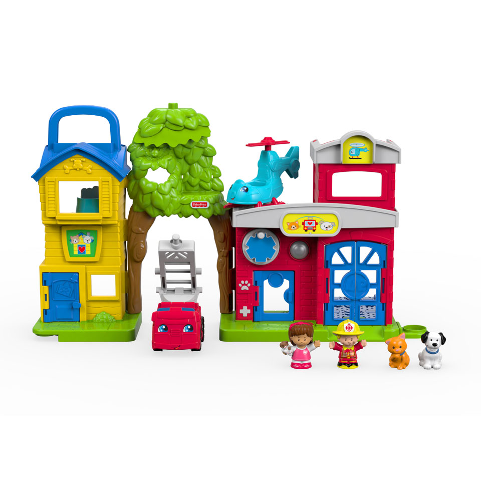 Fisher-Price Little People speelset dierenreddingspost