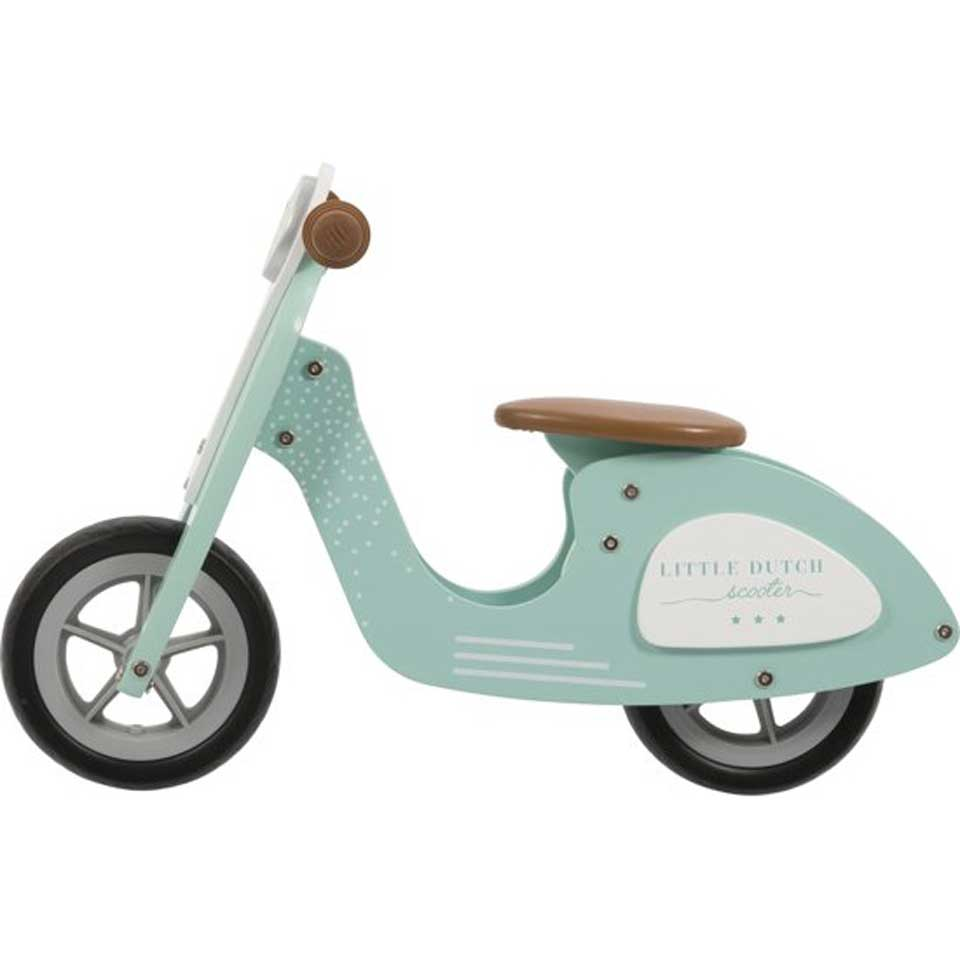 Little Dutch houten loopscooter - mintgroen