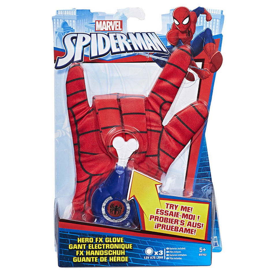 Spider-Man helden handschoen met geluid