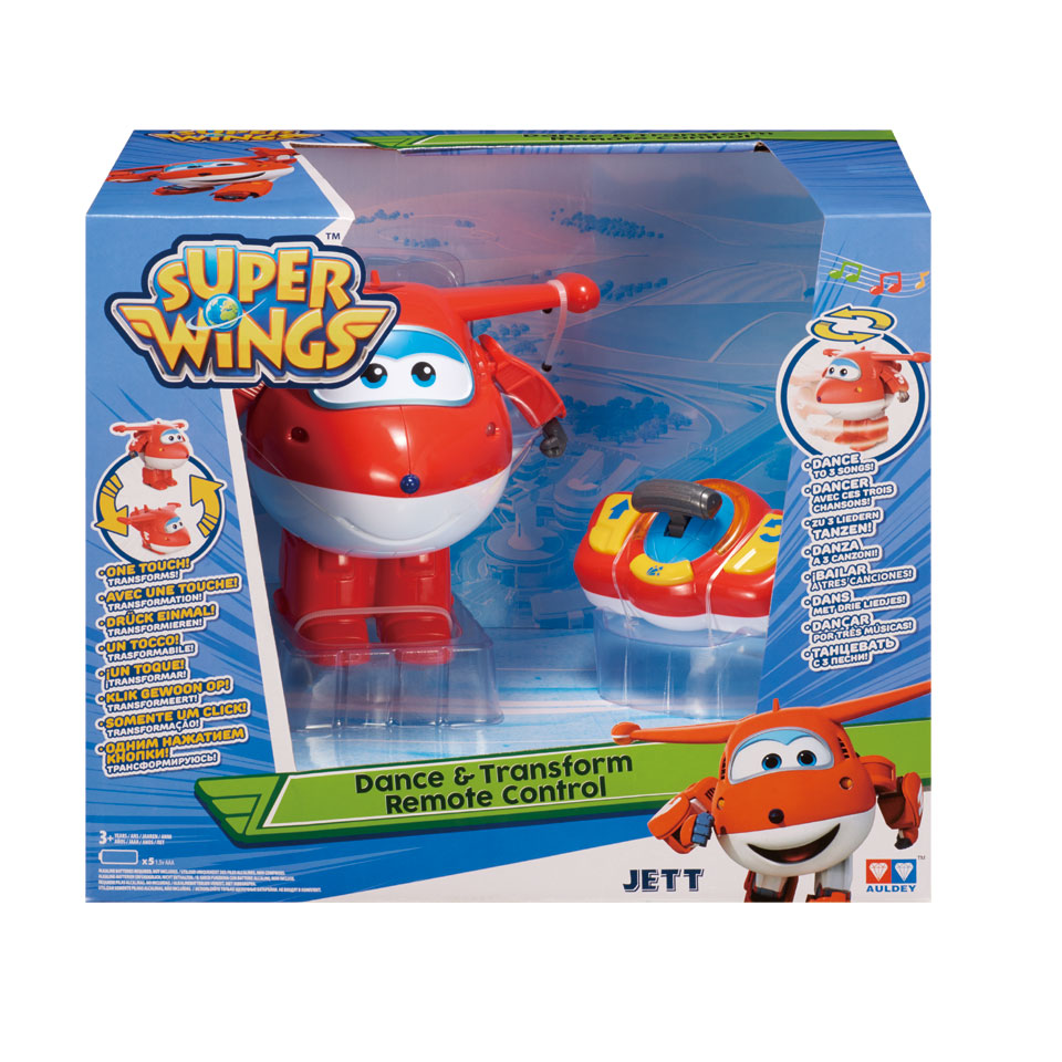 Super Wings dans en transformeer Jett met afstandsbediening