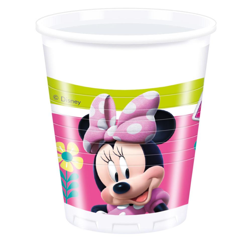 Minnie Mouse Helpers bekers - 8 stuks - 200 ml