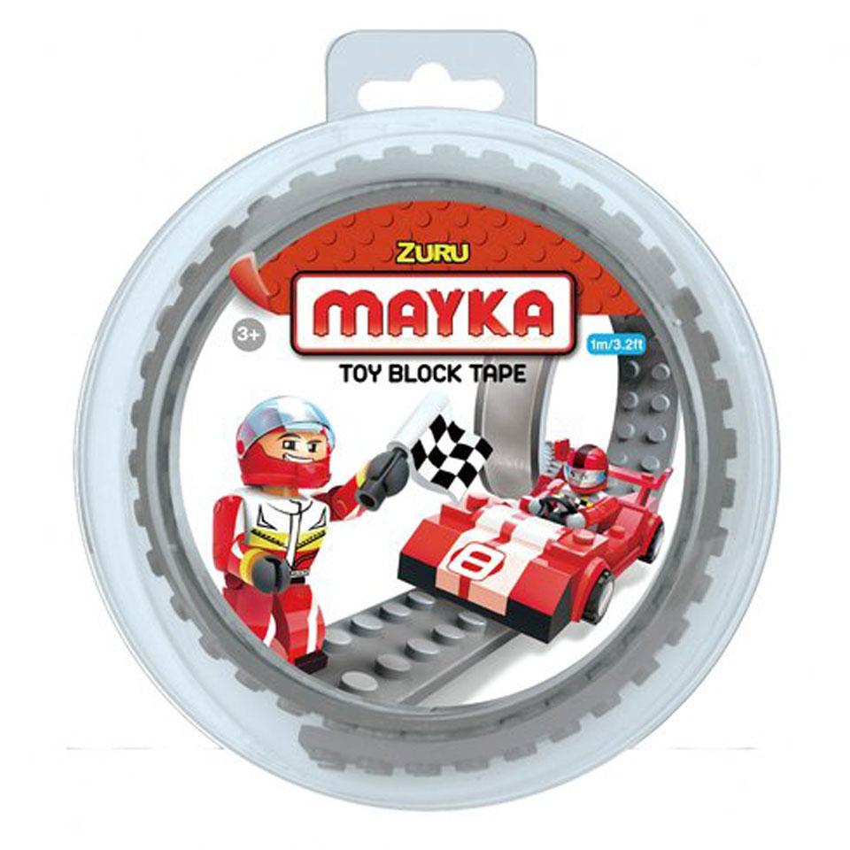 Mayka speelgoed blok tape 2 noppen - 1 meter - grijs