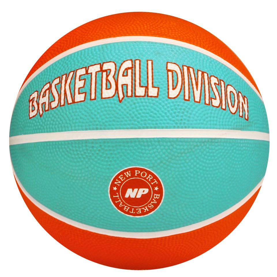New Port mini basketbal - oranje/blauw