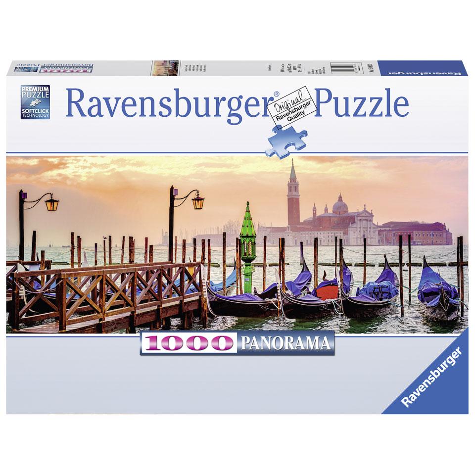 Ravensburger panoramapuzzel Gondels in Venetië - 1000 stukjes