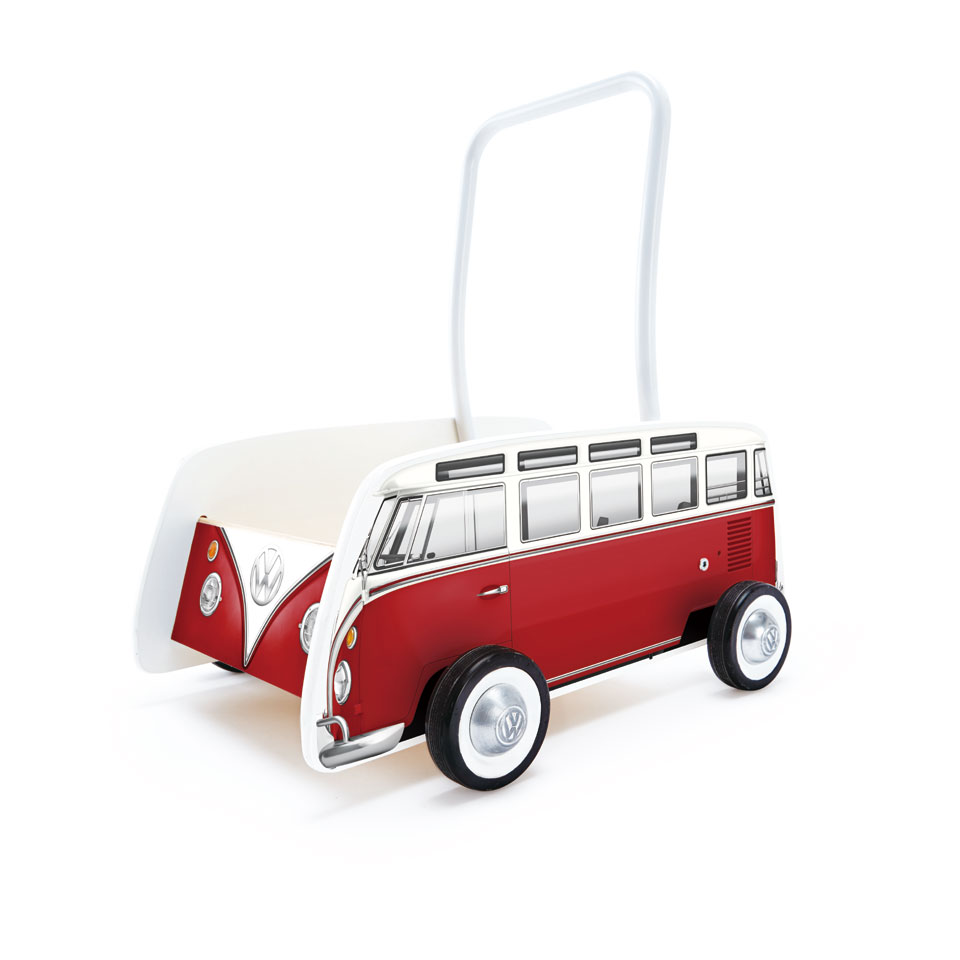 Hape houten loopwagen Volkswagen T1 bus - rood