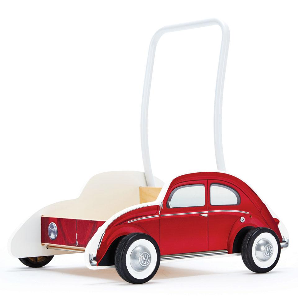 Hape houten loopwagen Volkswagen Kever - rood