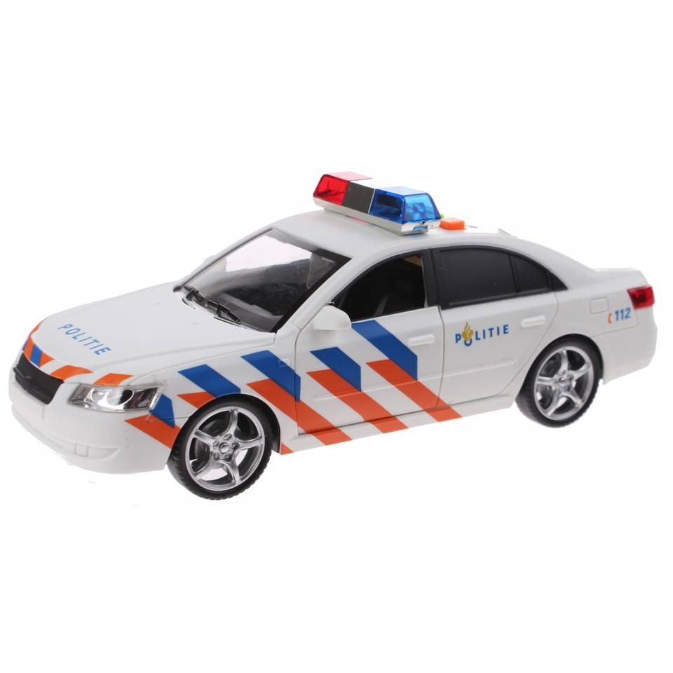 Toi-toys politiewagen met licht en geluid - 24 cm - wit